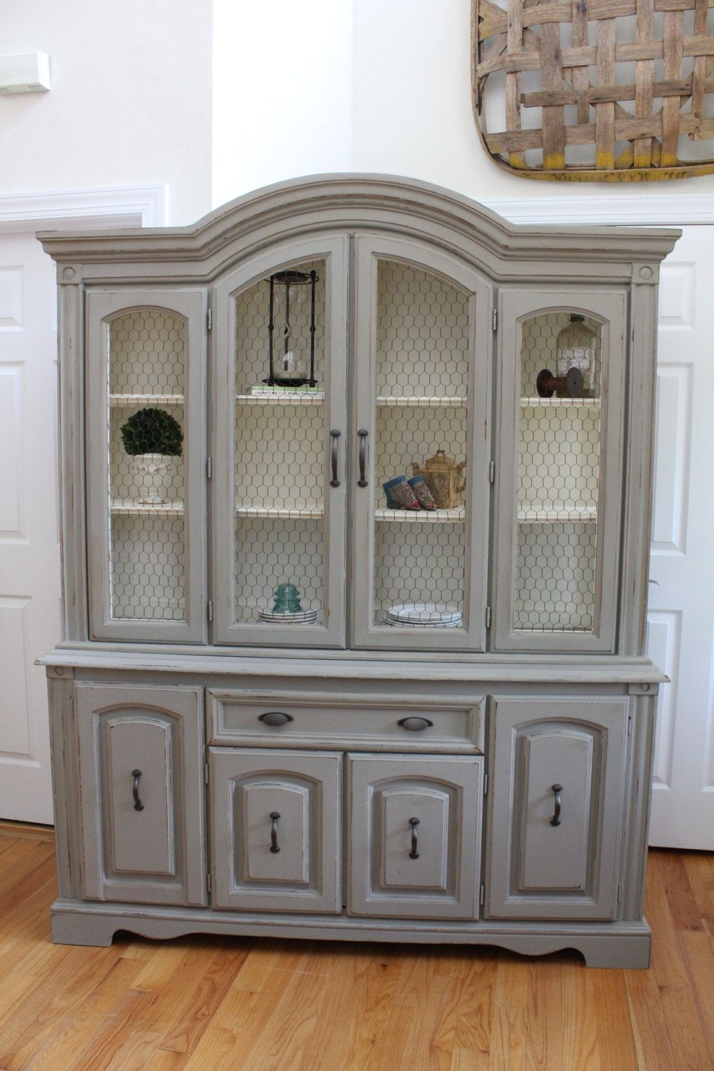 Vintage China Cabinet  Hutch  Buffet with by