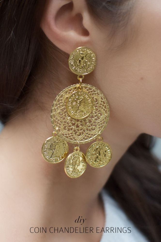 Diy Dolce Gabbana Inspired Coin Earrings
