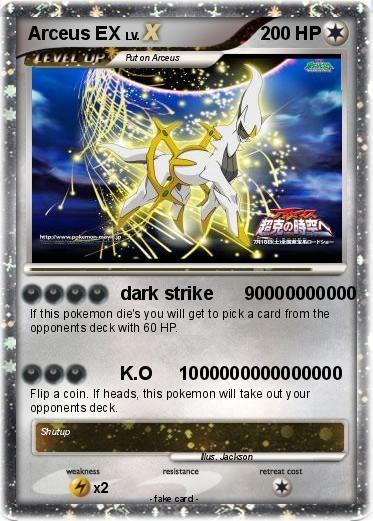 Pokemon Ex Pokmon Arceus EX 180 180 Dark Strike