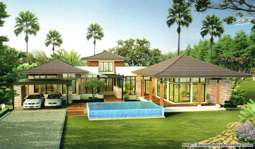 Tropical Home Plans Remarkable Enormous Split Houses In Modern