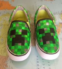 Minecraft Creeper shoes // Well I found something that I ...