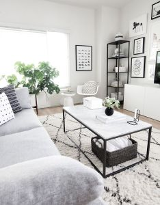 Coffee table styling also west elm rug monochrome and grey couches rh pinterest