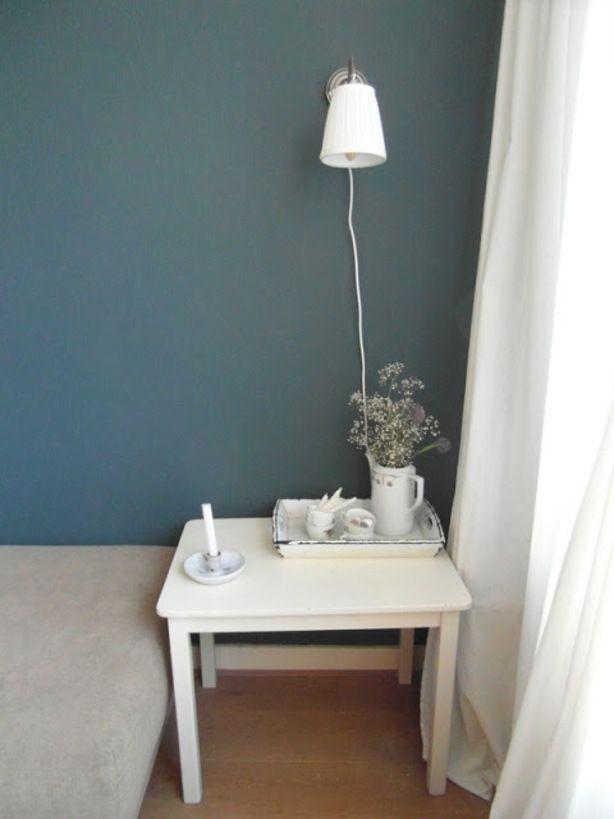 blauw grijs muur  woonkamer  Pinterest  Muur Grijs en
