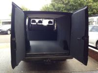 Ford Transit van conversion completed. Carpeting, ply ...