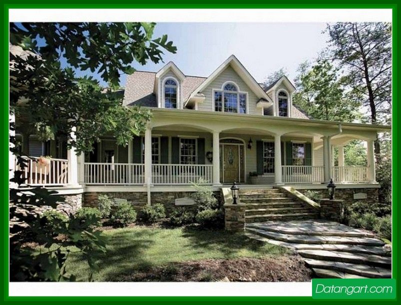 country house plans with porches one story
