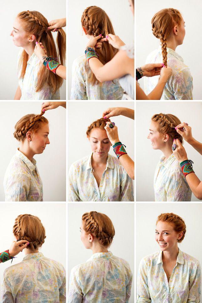 3 New Ways To Add Bobby Pins To Your 'Do Crown Braids Braid