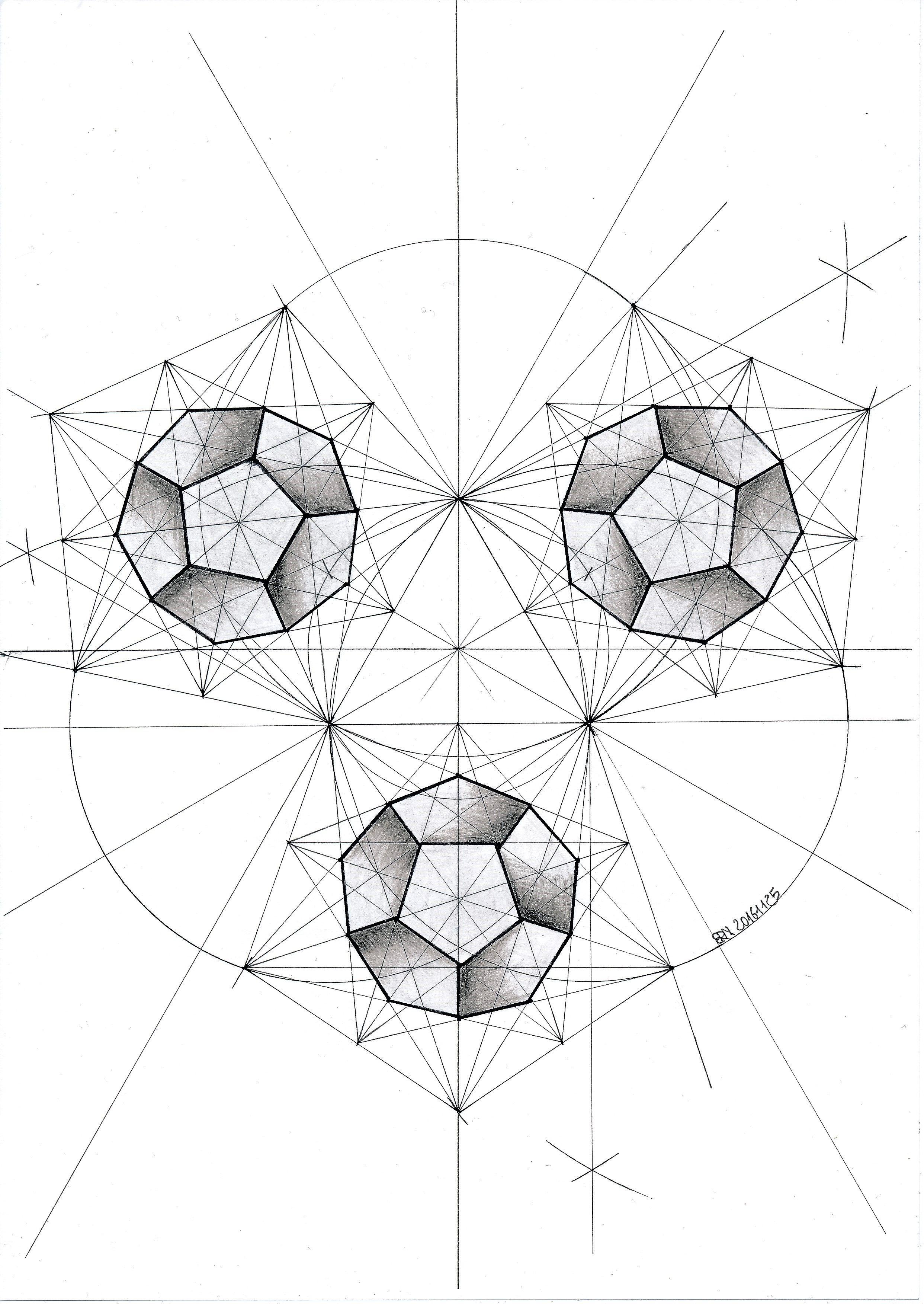 #polyhedra #solid #geometry #symmetry #pattern #pentagon #