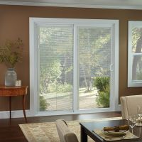 50 Series Gliding Patio Door with Blinds