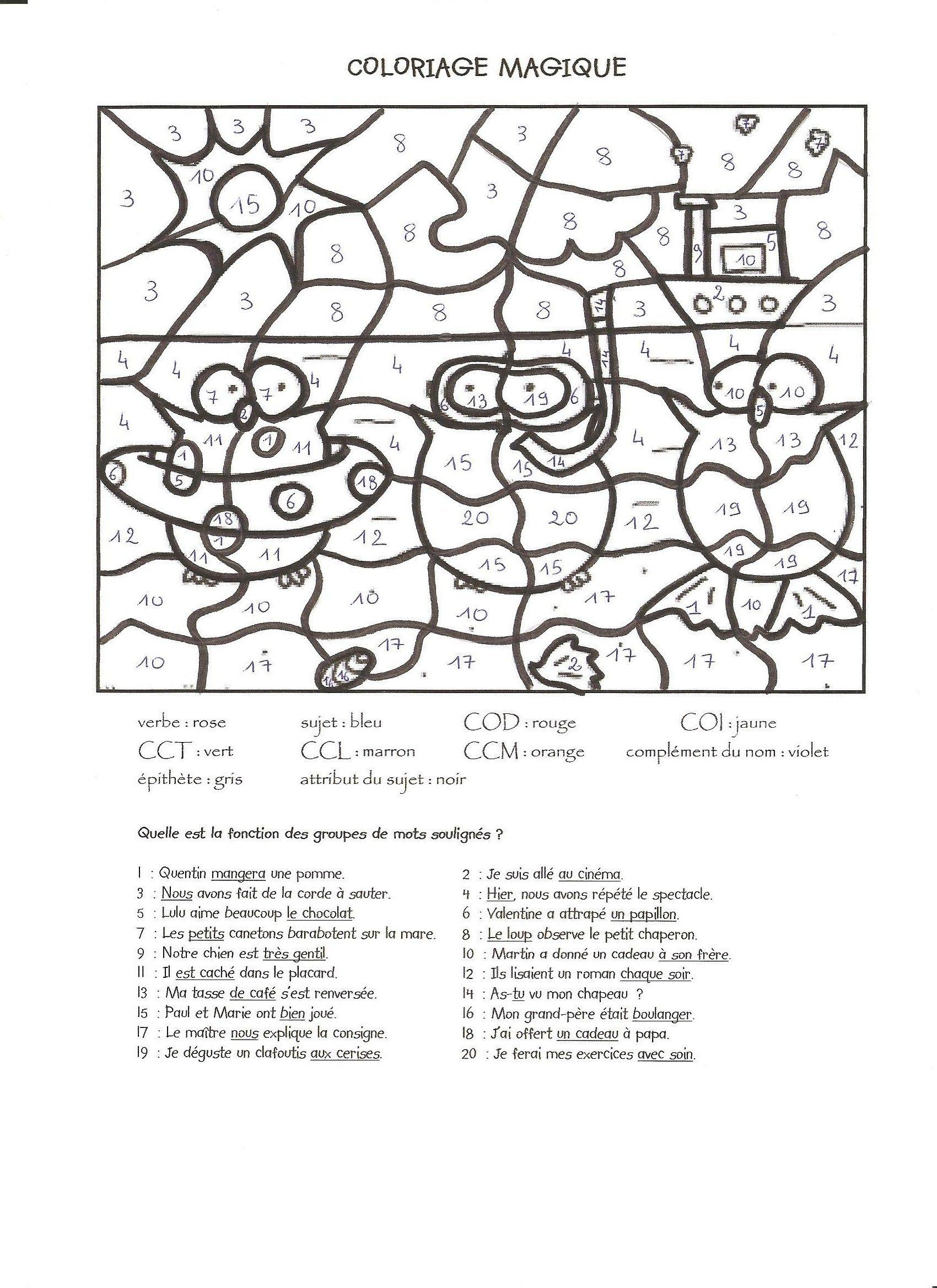 Coloriage Magique Grammaire 1 001