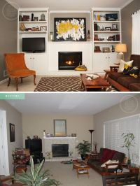 Small Living Room Makeover Before And After