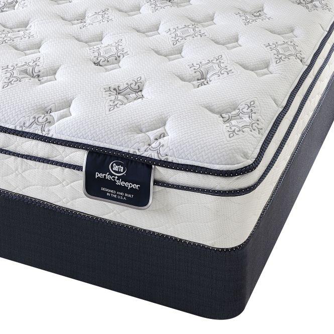 Serta Perfect Sleeper Birchcrest Eurotop Full Size Mattress Set With 9 Profile Boxspring White