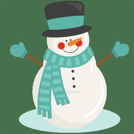 snowman winter svg scrapbook cut