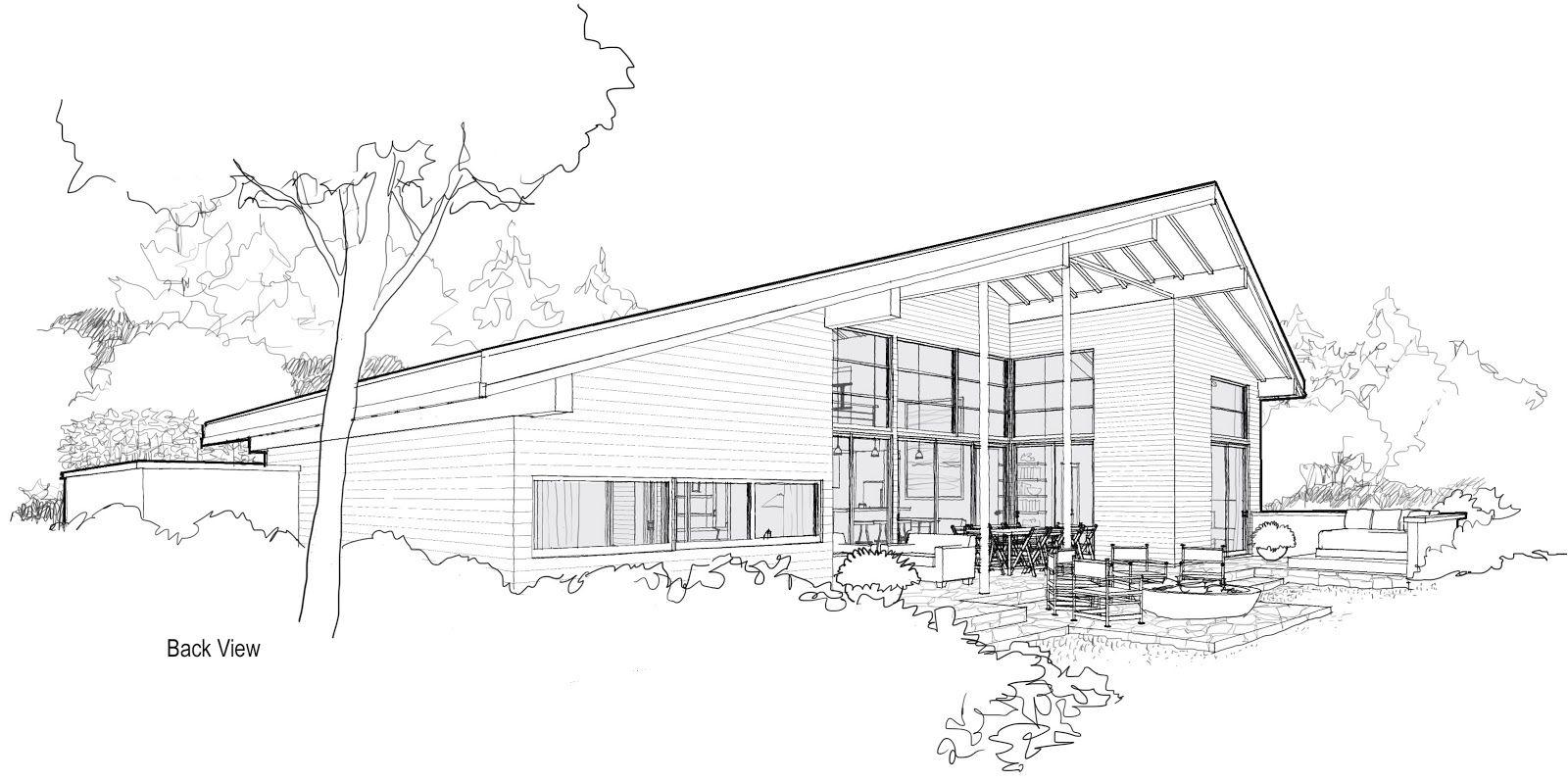 Modern Home Architecture Sketches Design Inspiration