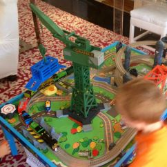 Thomas The Train Table And Chairs Kid Camping Chair Cranky Crane Fox Style