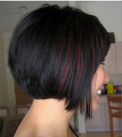 Short Hair With Peekaboo Highlights Peekaboo Red Highlights On