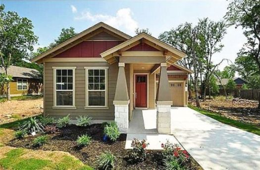 Decorating Using Combination Between Red Light Brown And Colors For Exterior House Color