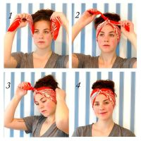 Different ways to wear scarves in your hair | Headscarf ...