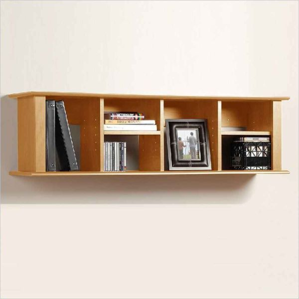 Organized Wall Mount Bookshelf Room Space