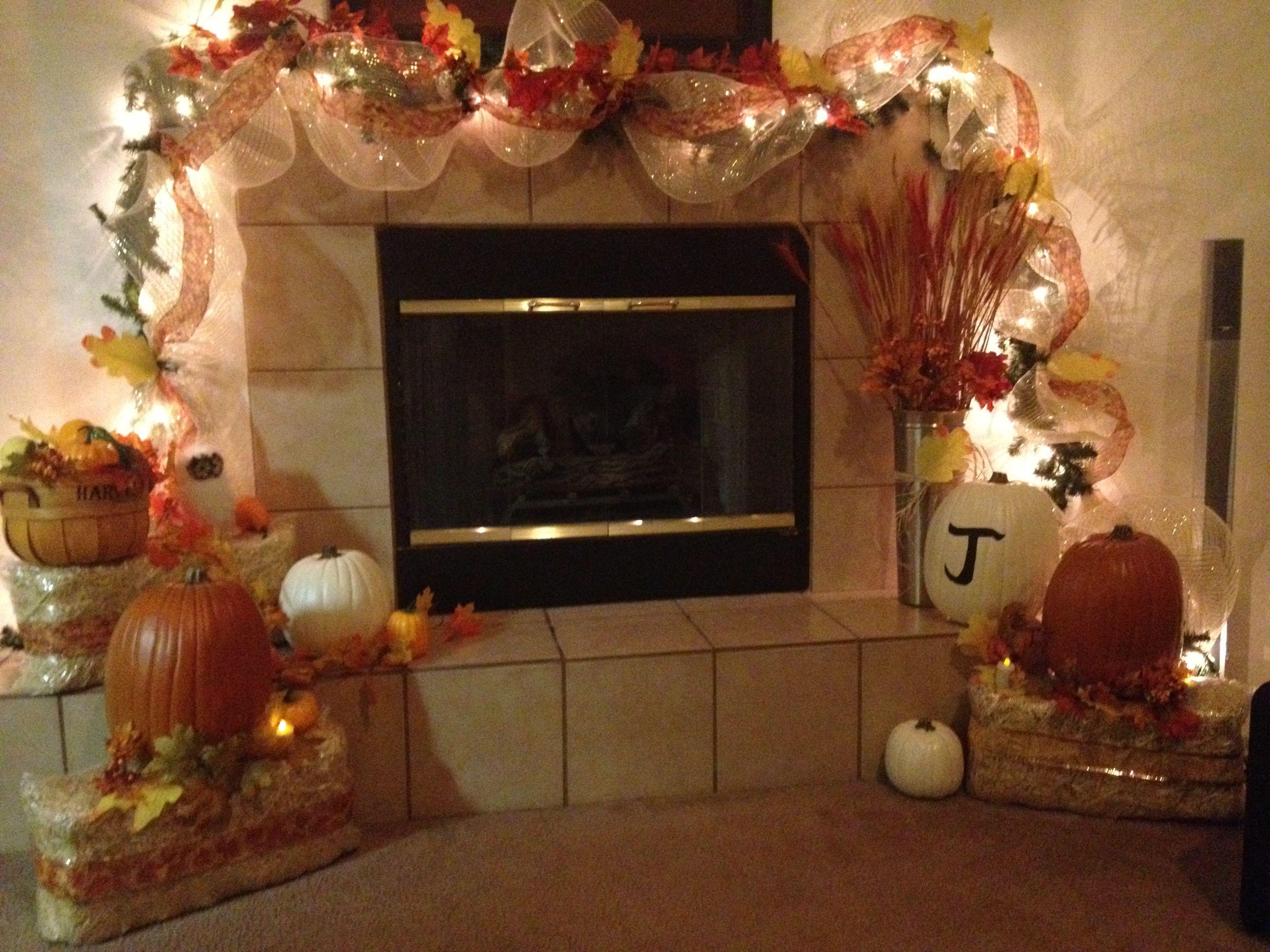 Best 25+ Fall Fireplace Decor Ideas On Pinterest