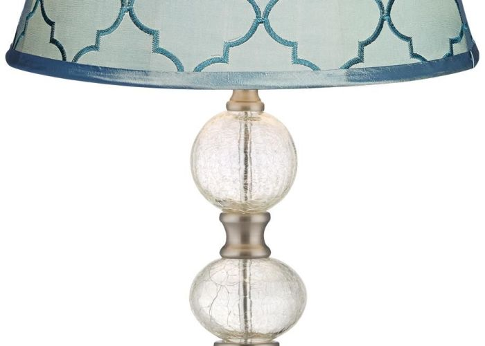 Blue moroccan tile crackle spheres glass table lamp also inspiring fi