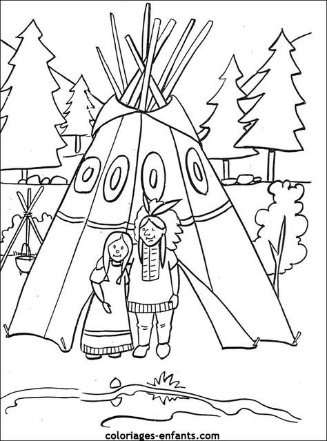 Native American coloring page, maybe for the kids table at