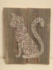 nail and string art cat