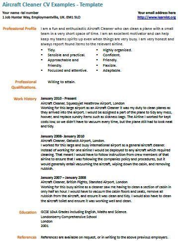 Cleaning Skills For Resume