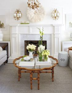 Interior sunny living and dining room creamy white coffee tables also rh pinterest