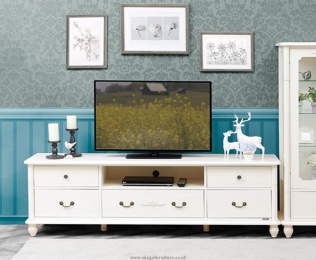 Meja TV Minimalis Murah Putih Desain Meja TV yang
