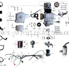 150cc Quad Bike Wiring Diagram 2000 Ford F250 4x4 Coolster 110cc Atv Parts Furthermore Pit Engine