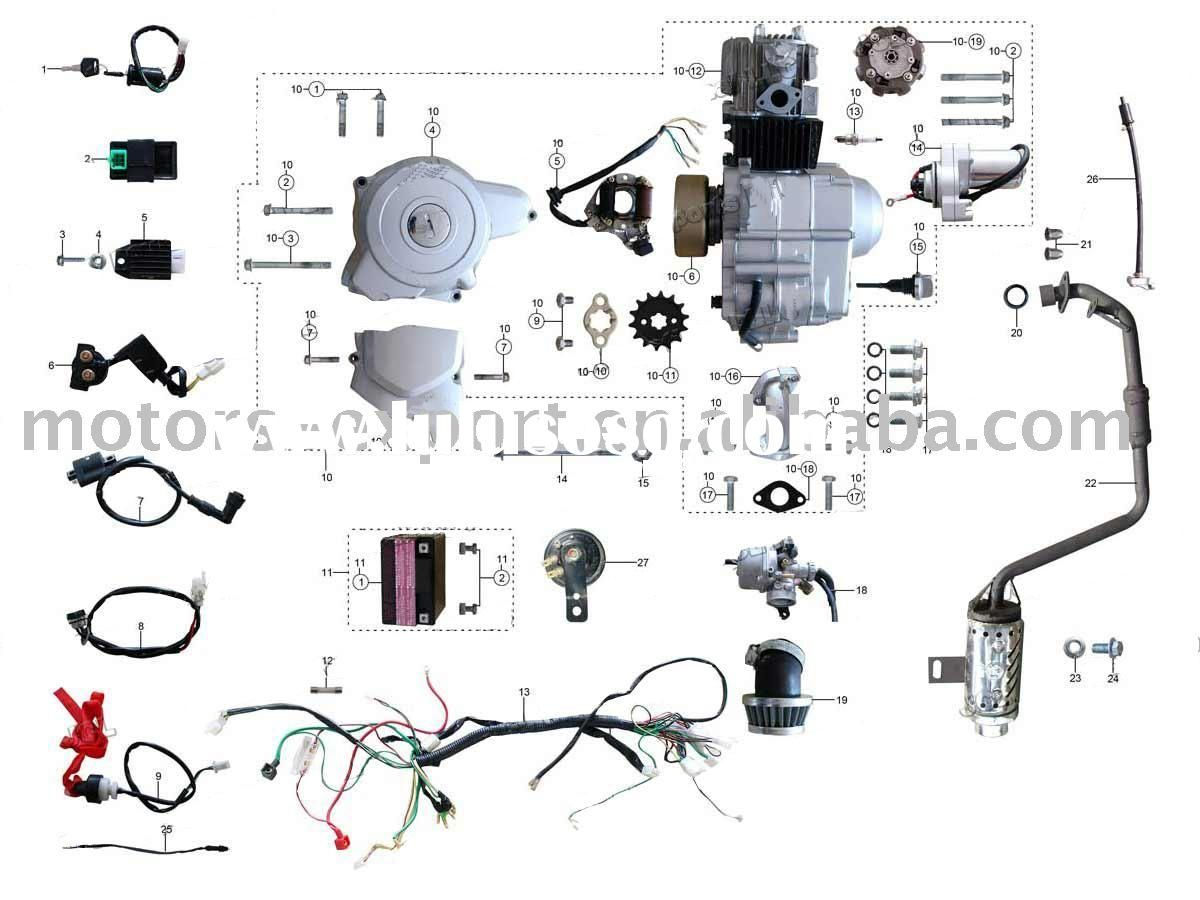 150cc quad bike wiring diagram 2000 honda prelude stereo coolster 110cc atv parts furthermore pit engine