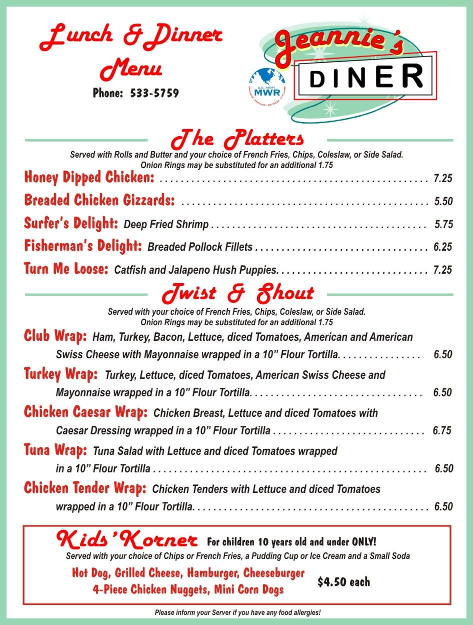 Menu Restaurant Mexican Fancy