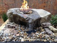 Our Sliding Rock Falls Boulder Fire-Pit Fountain. For more ...
