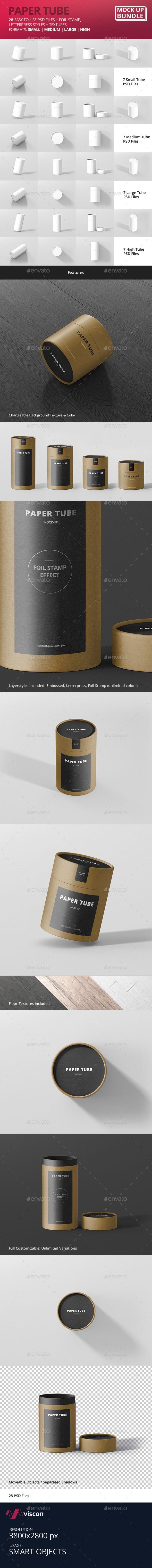 Image result for Slim Paper Tube Mockup Bundle 19430984