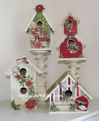 decorating bird houses with scrapbook paper | Altered ...