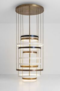 Dimore Studio - Chandelier of layered bands, multiple ...