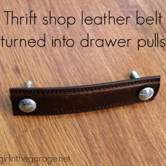 Diy Leather Belt Chair Small 2 Seater Table And Chairs Pottery Barn Inspired Trunk Bedside Themed