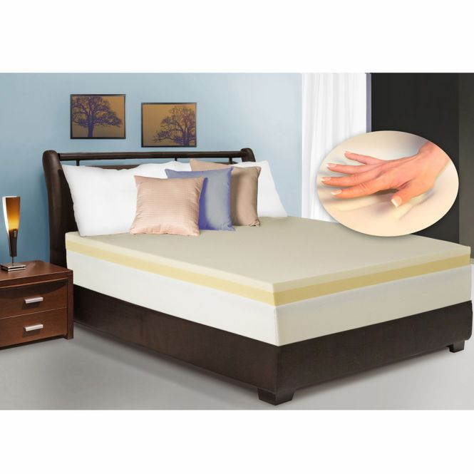 Dual Layer Memory Foam Revitalizer Plus Mattress Topper King Size Bed Pad New