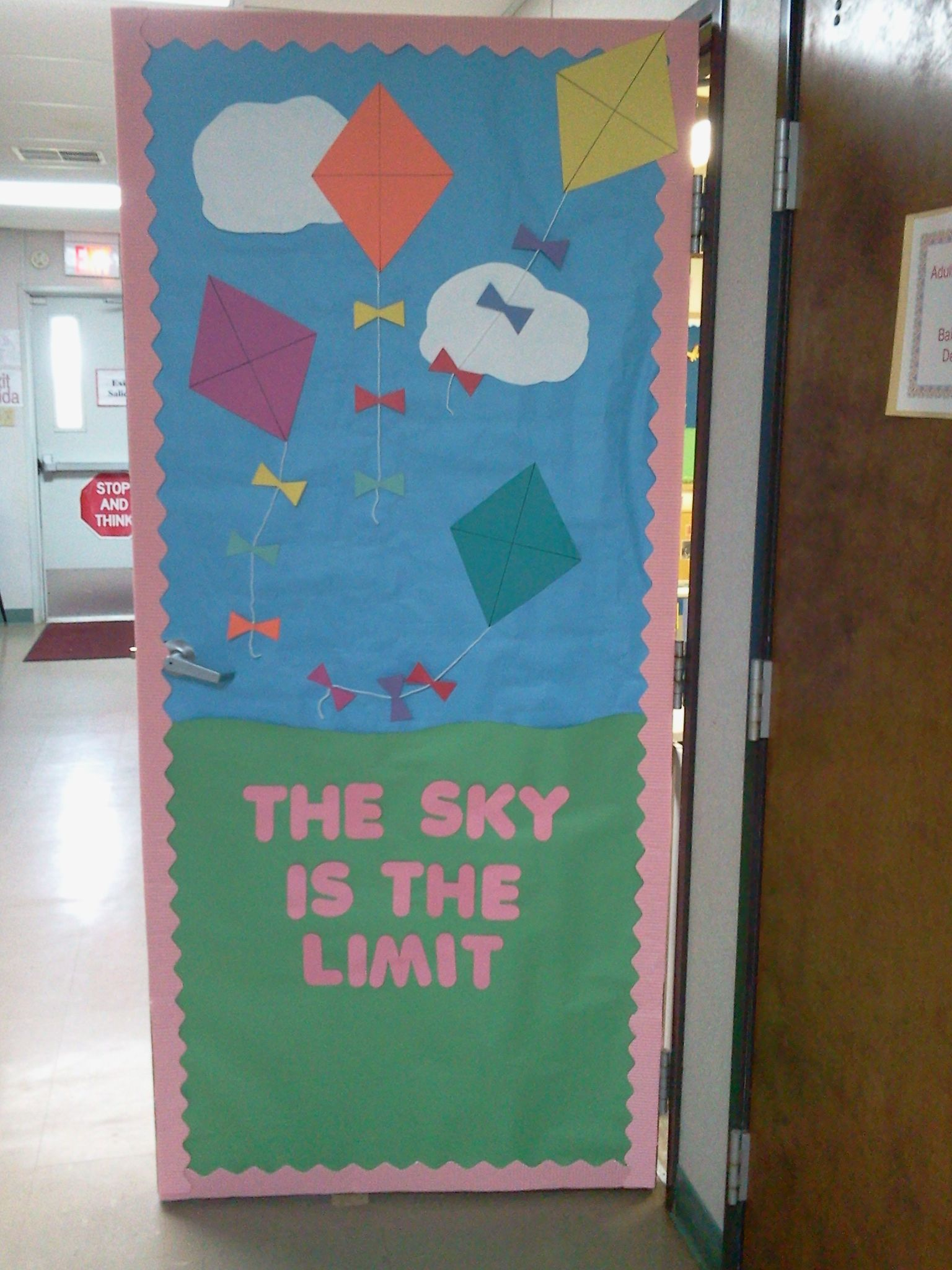 Spring Door I Made For My Classroom