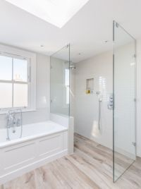 Victorian property renovation | walk in shower | glass ...