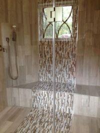 Waterfall Tile Design in the shower | Bathroom back splash ...