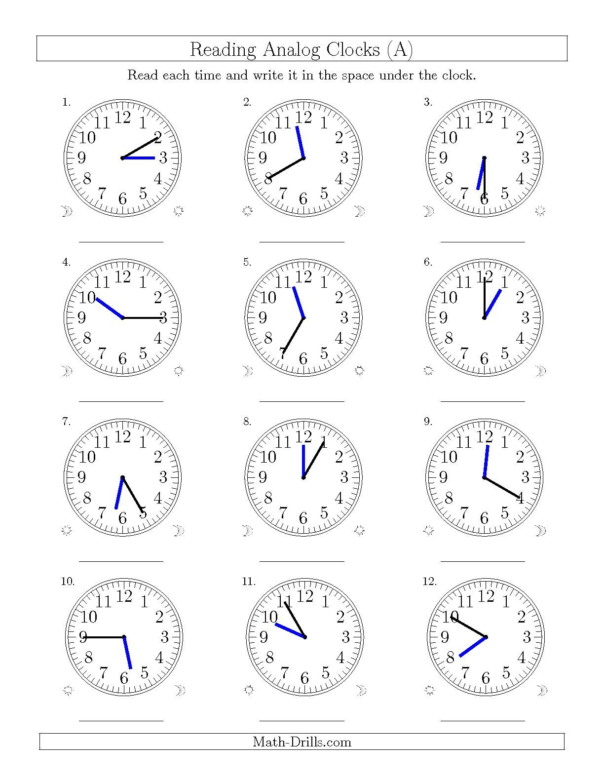 Telling Time Worksheet Year 4