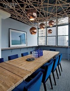 Pendant fixtures meld with  unique ceiling installation in creative nyc agency   meeting room also contemporary home decor the heart of most inspiring rh za pinterest