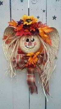 Fall scarecrow wreath.  | Fall | Pinterest | Scarecrow ...