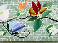 Mosaic Border Tiles in Floral Motif | Designer Glass ...