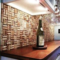 Wine cork backsplash from @recyclideas - for the kitchen ...