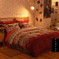 Modern Boho Bedding Set, Branded 100% Cotton Home Choice ...