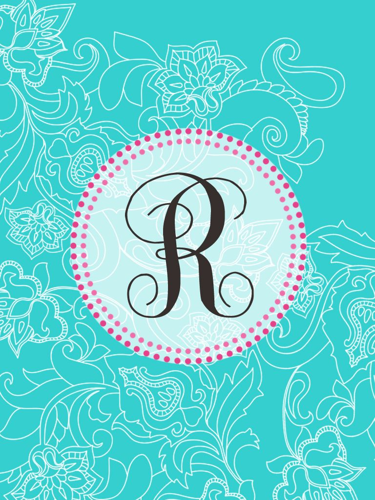 Make Your Own Monogram Iphone Wallpaper Super Cute R Monogram Wallpapers Pinterest