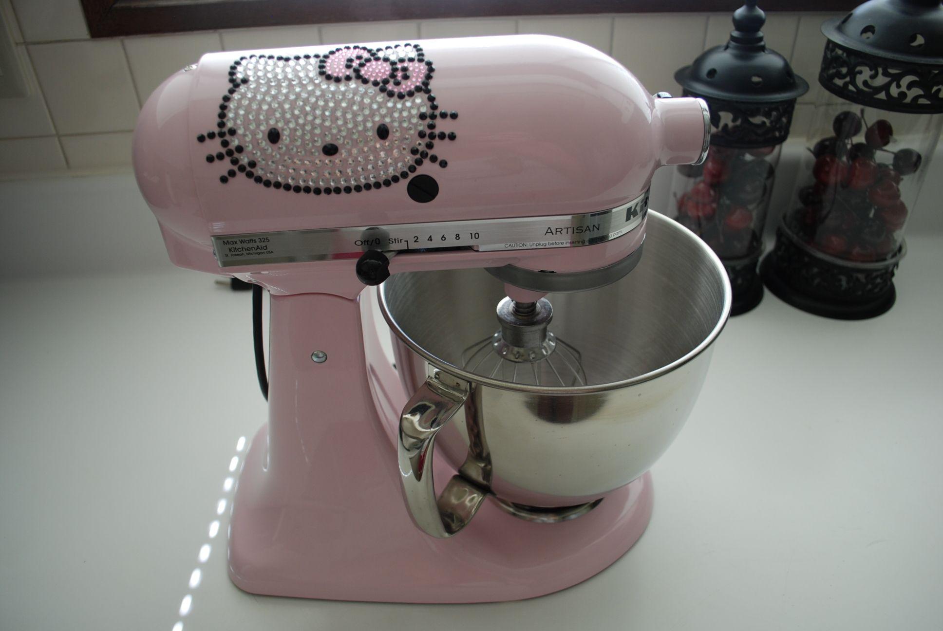 pink kitchen aid mixer orange chairs my hello kitty pinterest