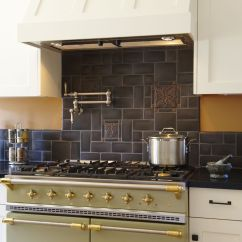 Craftsman Kitchen Backsplash Small Remodeling Motawi Collage In Granite By Michelle Nelson
